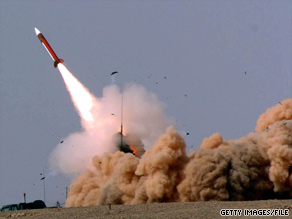 In an 2005 joint Israeli-U.S. exercise, a Patriot missile is fired from a desert launch site in southern Israel.