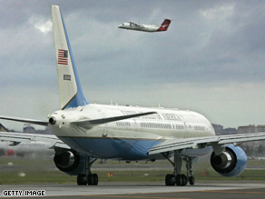 President-elect Barack Obama is now flying a U.S. military 757 like the one pictured above.