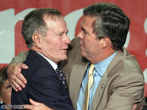 Former President George H. W. Bush says son, Jeb, possesses all the qualities necessary to win the White House.