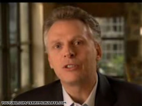 Terry McAuliffe, a longtime aide to the Clintons, made an announcement about his own political future in an online video.