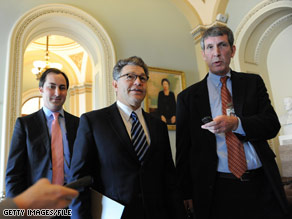 Democrat Al Franken moved one step closer Monday to claiming a seat in the Senate.