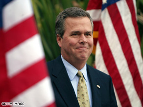 Former Florida Gov. Jeb Bush spoke in Washington on Wednesday.