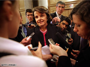 Sen. Feinstein said Wednesday that she will back President-elect Obama&#039;s pick to head the CIA.