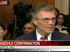 Daschle's confirmation hearing is underway.