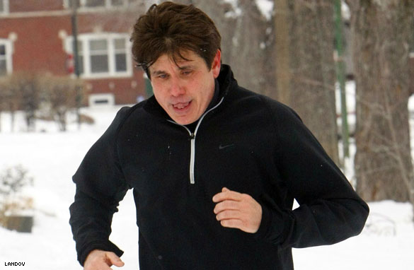 rod blagojevich jogging. Rod Blagojevich takes a