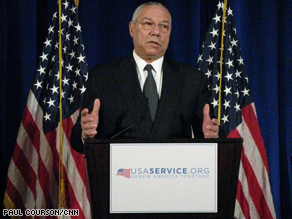 Powell says he doesn't want a post in the Obama administration.