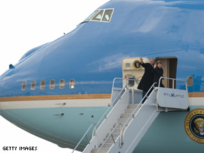 President Bush has made his final flight aboard Air Force One.
