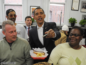 Obama made a Saturday stop at Ben&#039;s Chili Bowl, a local DC institution.