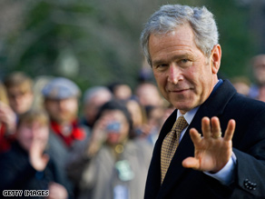 President Bush's term ends in less than two weeks.
