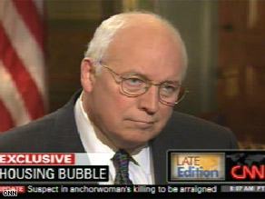 Vice President Dick Cheney defends his administration's handling of the nation's financial crisis.