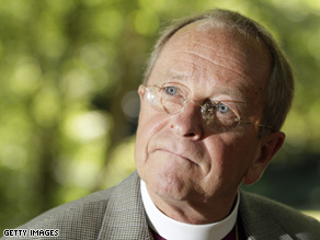 Robinson became the U.S. Episcopal churchs first openly gay bishop in 2003.