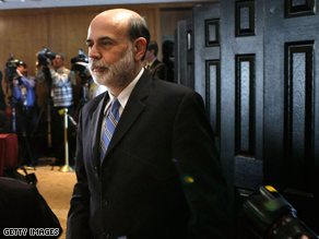 Bernanke told lawmakers Tuesday that the economy has started to show signs of stabilization.