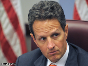 Geithner is Obama's Treasury Secretary nominee.