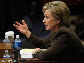 Sen. Clinton was questioned Tuesday about the Clinton Foundation and the Clinton Global Initiative.