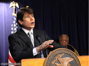 Gov. Blagojevich presided over the swearing in of the Illinois State Senate Wednesday.
