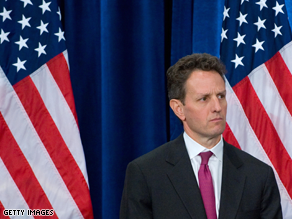 Geithner is Obama's choice for Treasury Secretary.