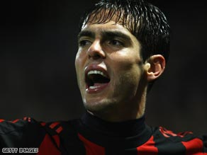 Reason to smile: AC Milan&#039;s Kaka is believed to be the subject of a $146 million bid from Manchester City.
