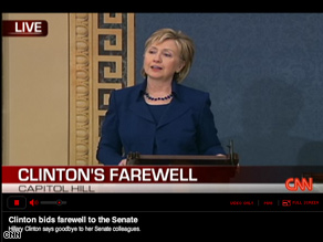 Watch Hillary Clintons Senate farewell on cnn.com/live.