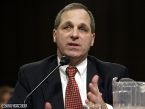 Freeh is testifying at Holder's confirmation hearing.