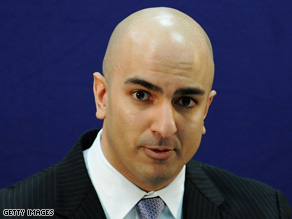 Assistant Treasury Secretary Neal Kashkari has been responsible for TARP under the Bush administration.