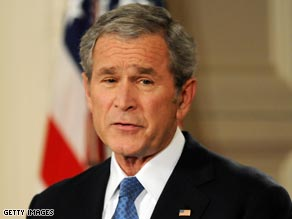 President Bush spent part of his last full day in office calling world leaders.