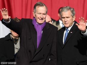 The Bushes are bidding farewell to the White House.