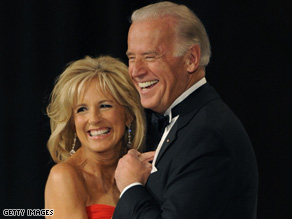 The Bidens are making the rounds at the inaugural balls Tuesday night.