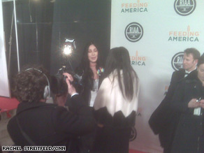 Hollywood legend Cher joined other celebrities at the RIAA inaugural bash in Washington Tuesday night.
