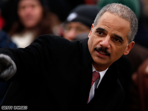 Holder's confirmation has been held up.
