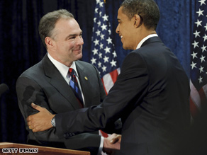 Kaine is Obama's choice to head the DNC.