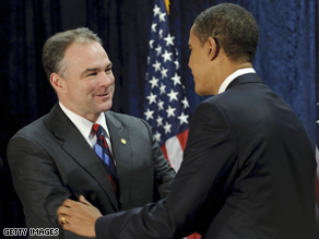 Obama tapped Kaine to head the DNC.