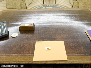 Bush followed presidential tradition, leaving a note for his successor.