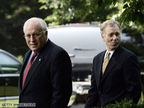 Former Vice President Cheney told a conservative magazine that his aide Scooter Libby, pictured on the right, should have received a pardon from former President George W. Bush.