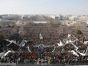 1.8 million were on hand to witness Obama&#039;s Inauguration.
