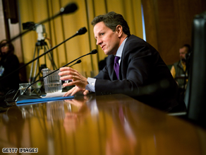 Geithner has been approved by the Senate Finance Committee.
