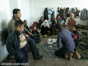 A family in Gaza returns to their home.