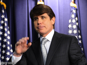 Embattled Illinois Gov. Rod Blagojevich accused the state Senate Friday of 'trampling' his constitutional rights.