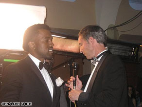 AC360°'s Gary Tuchman interviews Kanye West at the inaugural Youth Ball on Tuesday night in Washington, D.C.