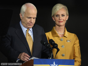 The McCains decided against Mrs. McCain participating in Dancing with the Stars.