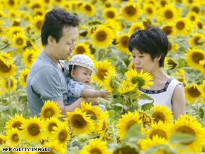Japan's health ministry reports the country's birthrate is well below that needed to maintain the population.