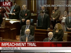The Blagojevich impeachment trial is airing live on CNN.com/live.