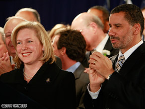 New York Gov. David Paterson announced his pick of Rep. Kirsten Gillibrand to replace Hillary Clinton in the Senate.