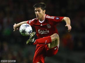 Liverpool's Xabi Alonso is said to be Real Madrid's main target.
