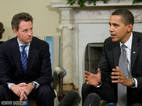 President Obama rebuked Wall Street Thursday during a meeting with new Treasury Secretary Timothy Geithner.