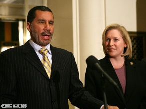 Gov. David Paterson eventually chose Rep. Kirsten Gillibrand to replace Hillary Clinton in the Senate.