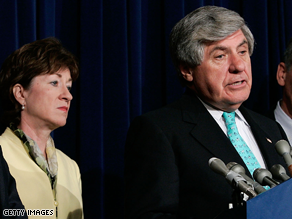  Nelson and Collins are seeking a compromise version of the stimulus bill.