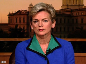 Michigan Gov. Jennifer Granholm says a 'fringe element' is using the Tea Party to transmit views.