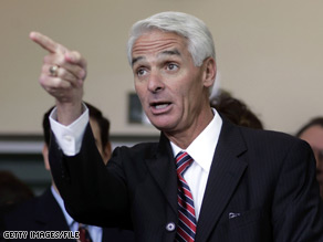Florida Gov. Charlie Crist said Friday he would not appoint himself to fill the remaining time left in Sen. Mel Martinez's.