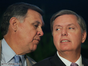 Sen. Mel Martinez and Sen. Lindsey Graham said they plan to present their ideas to fellow Republicans at their weekly policy lunch today.