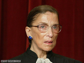 Supreme Court Justice Ruth Bader Ginsburg told a group of lawyers and judges that she was 'cheered' at the nomination of Sonia Sotomayor.